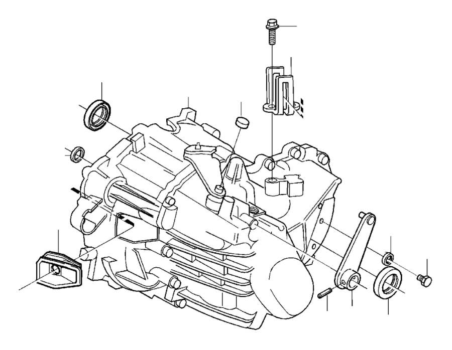 Volvo V70 Intermediate Lever. Manual Gearbox. Manual