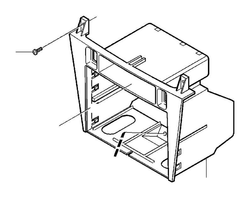 Volvo S40 Instrument Panel Storage Compartment (Grey