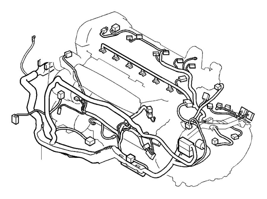 Volvo S80 Wiring Harness. Cable Duct. Cable Harness Engine