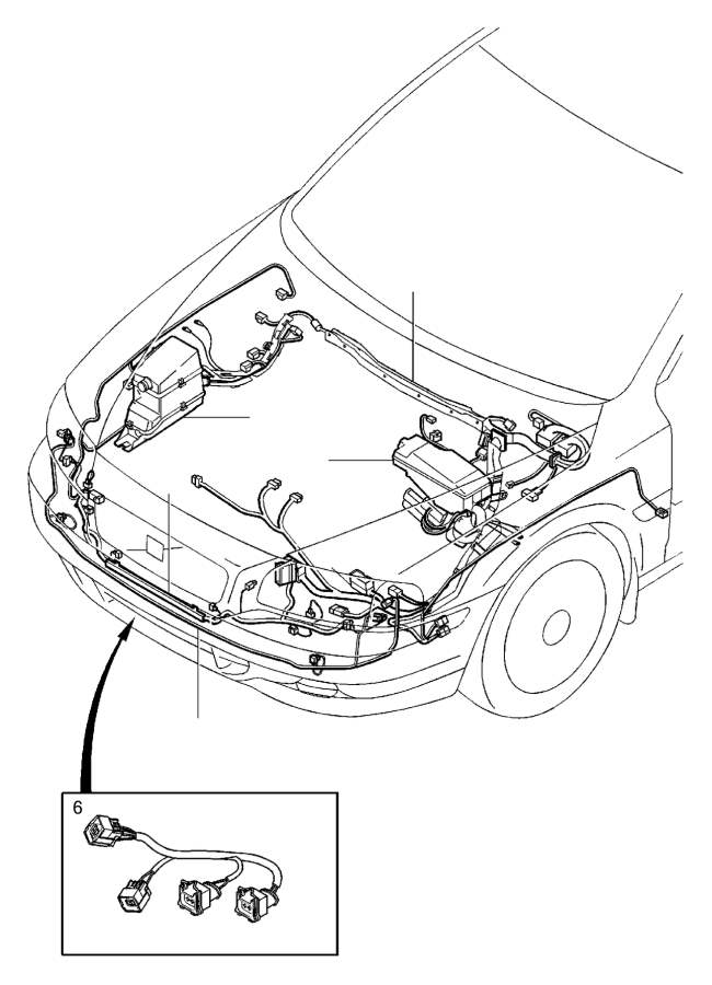 Volvo V70 Retainer. Auto.TRANS. Cable Harness Engine
