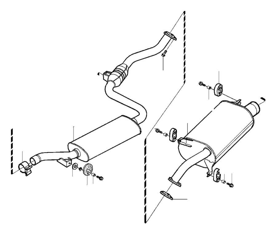 Volvo S40 Exhaust Pipe (Front). Muffler. Diesel. Exhaust