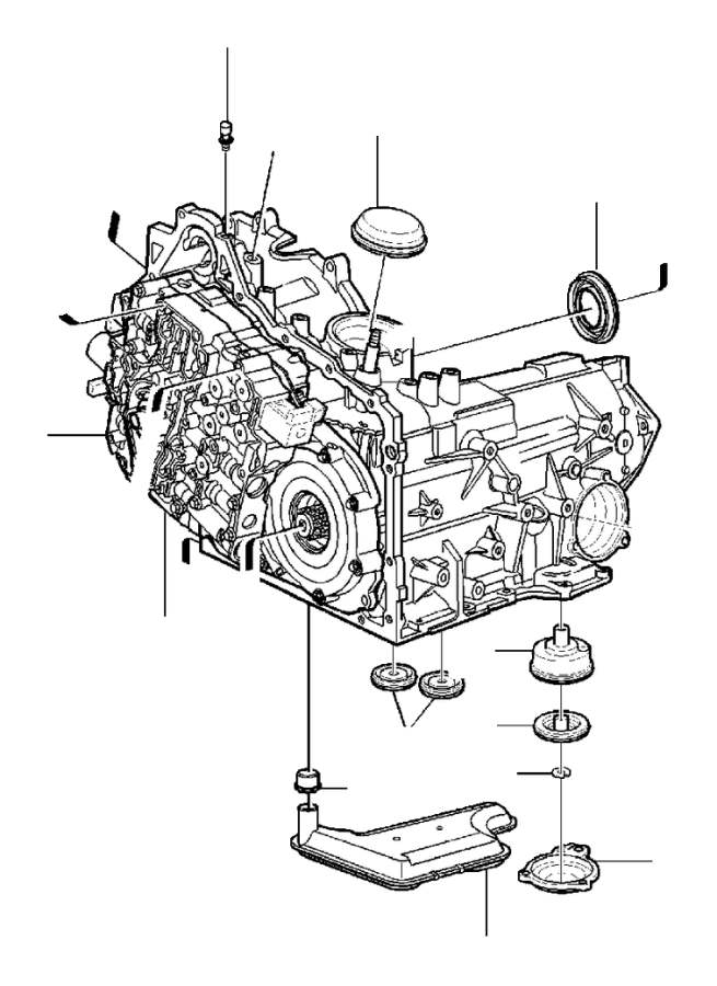 Volvo S80 Sealing. Gearbox, Automatic. Transmission