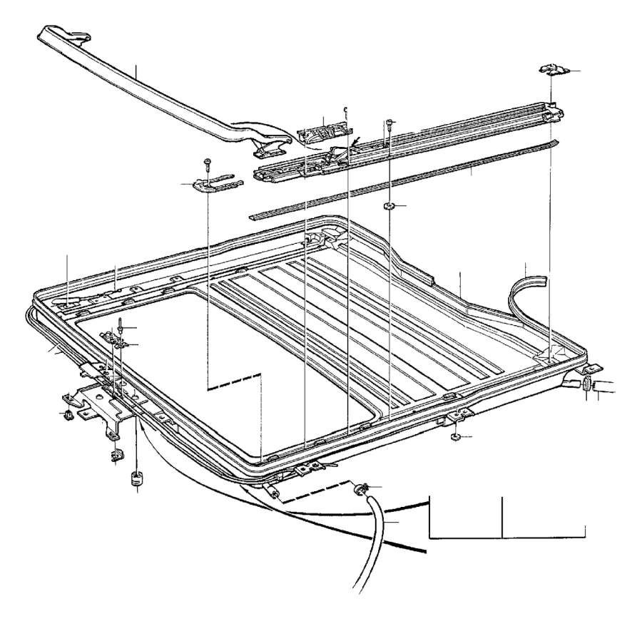 Volvo V70 XC Sunroof Guide Rail (Right). Roof Hatch. C70
