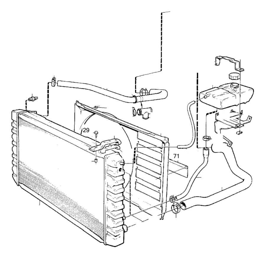 Volvo 240 Radiator Hose. Cooling System. O.DIA 46 mm
