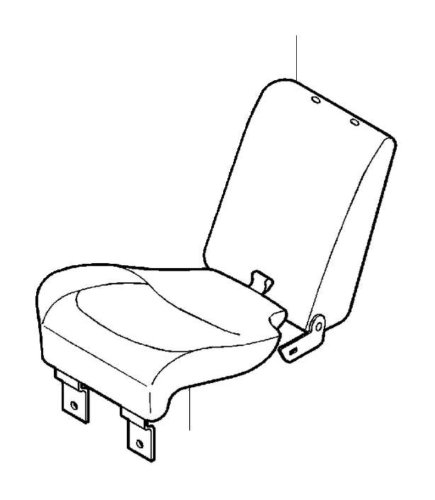 Volvo S40 Upholstery Seat. VISBY. (Right, Rear, Off Black