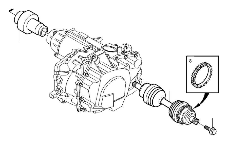 Volvo S80 Clutch. Drive Shafts. Visco. Transmission