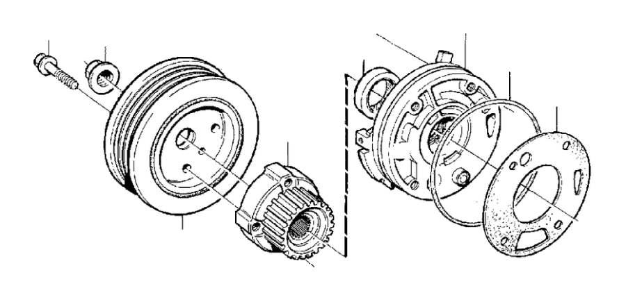 Volvo S40 Engine Crankshaft Pulley. Oscillation Damper