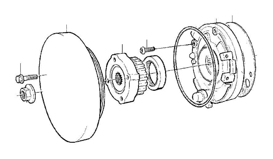 Volvo S70 Engine Oil Pump Seal. TURBO, Lubricating, Line