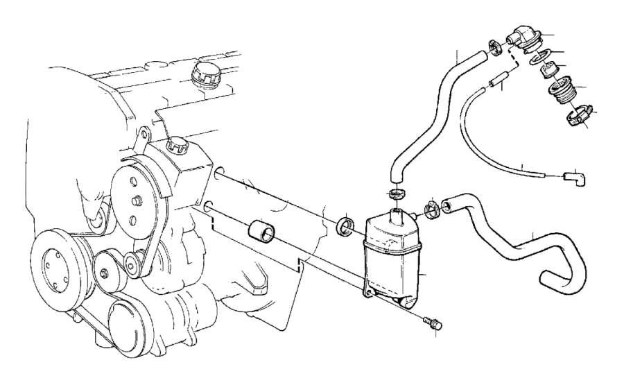 Volvo 960 Hose. Crankcase Ventilation. ENG, Engine