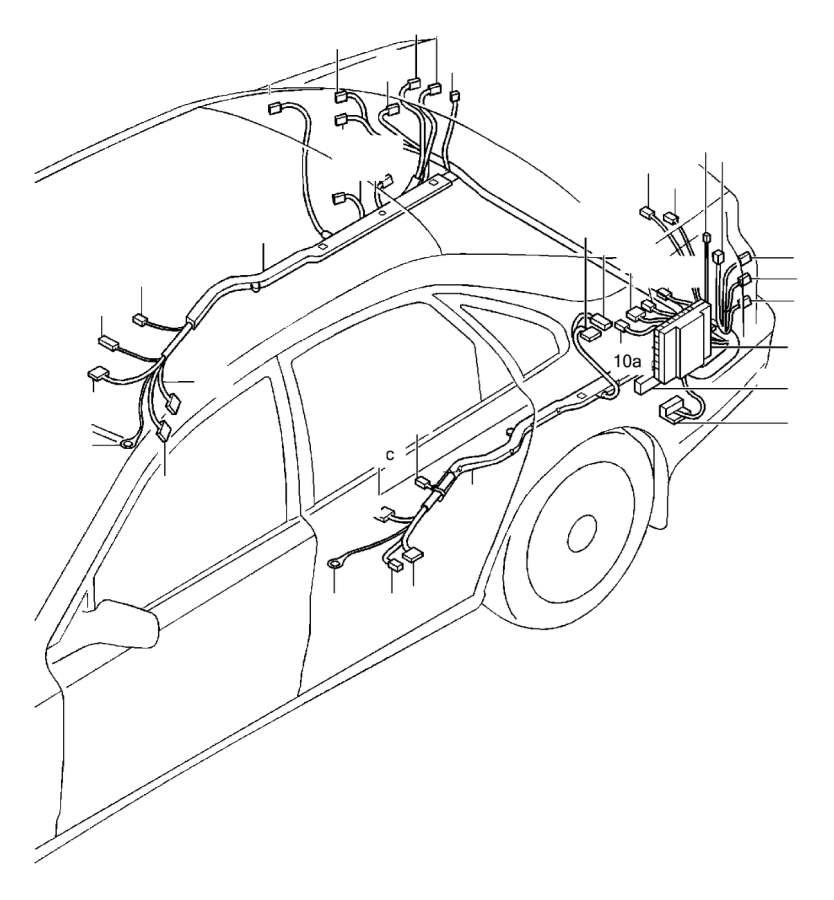 Volvo S80 Receptacle housing. Element, Heating, Inline