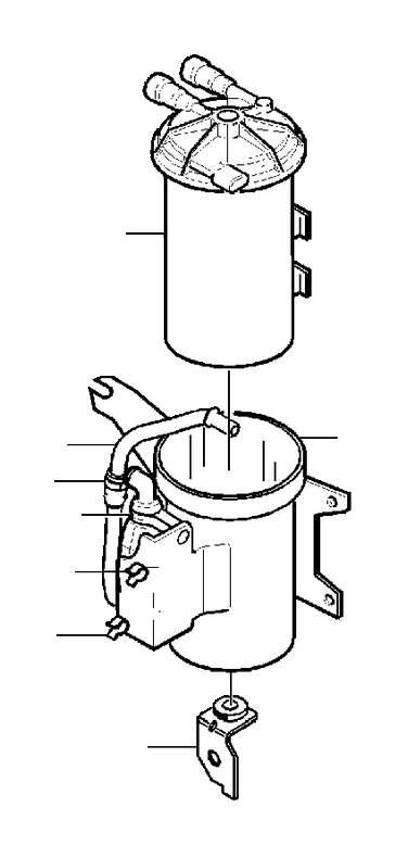 Volvo V40 Abs control module bracket. Auto.trans, 2001. Ch