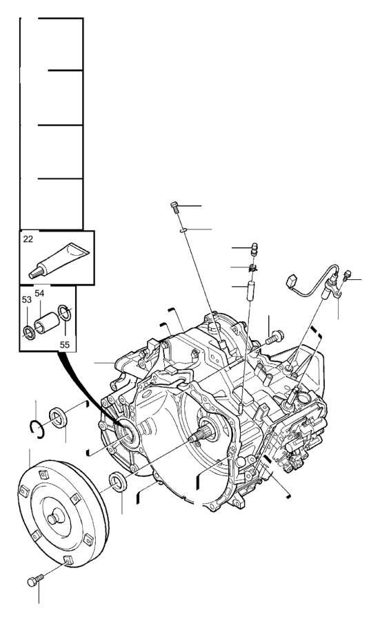 Volvo S70 Engine Speed Sensor. Automatic, Transmission
