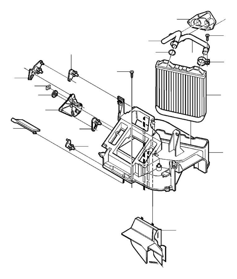 Volvo S40 Heater Core Case (Upper). Casing. Heater Unit