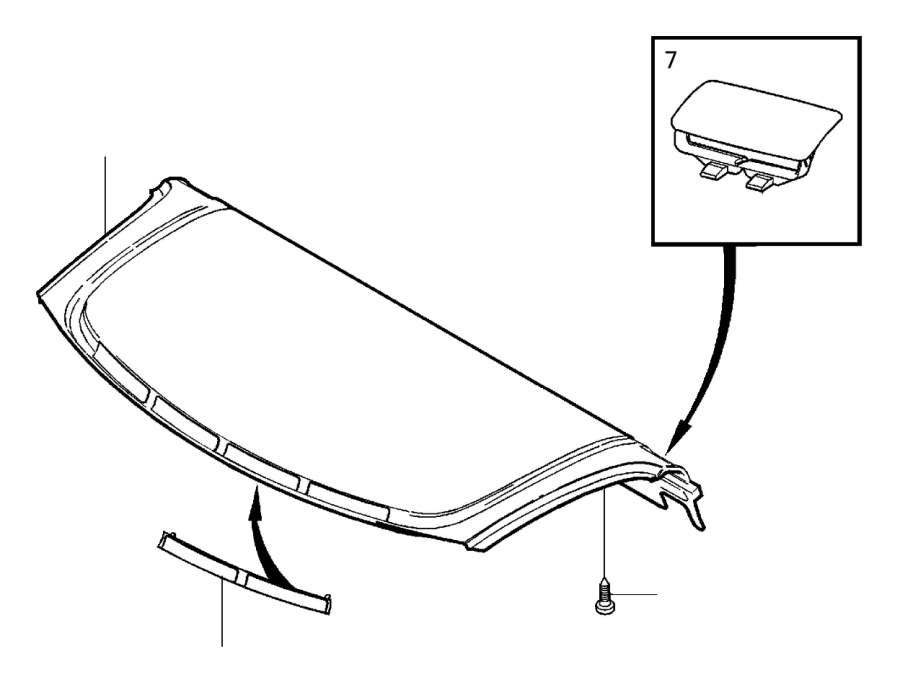 Volvo S40 Package Tray Trim (Rear, Interior code: 5XEX
