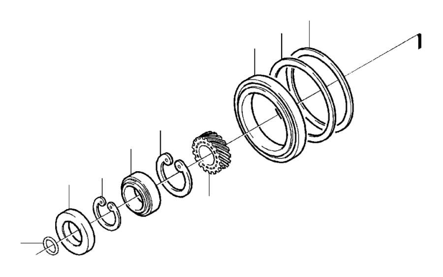 Volvo S60 Snap Ring. Auto.TRANS. Bevel Gear. D19T