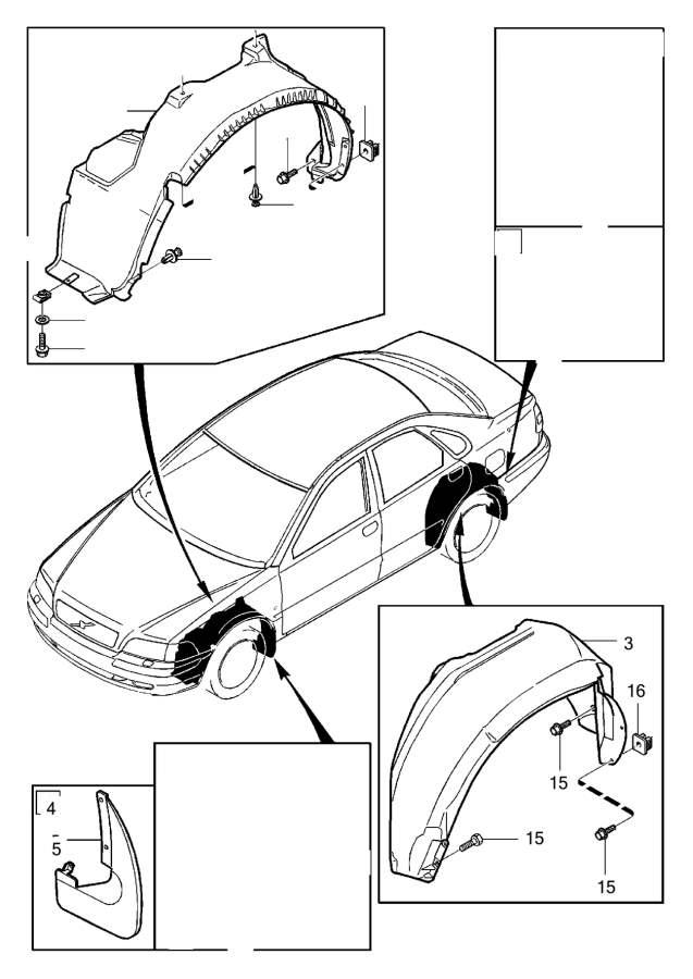 Volvo S40 Clip. Accessory. Burglar Alarm. Cover Plates