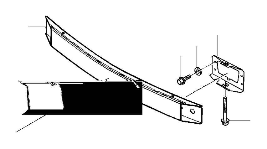 Volvo S70 Bumper Impact Bar (Rear). C70. S70. S70 2WD. S70