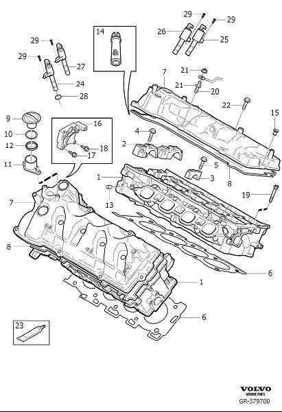 Volvo S80 Engine Cylinder Head Gasket (Rear). 8CYL