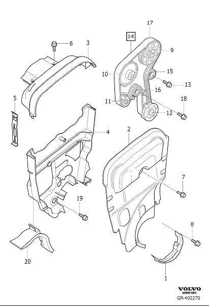 Volvo V70 Timing Belt Kit. Belt Drive. Belt Transmission