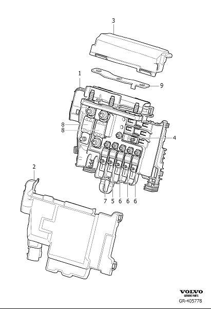 Volvo S60 Inscription Cap. Primary Relay and Fuse Box