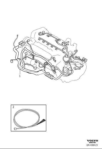 Volvo V70 XC Wiring Harness. Automatic Gearbox. Cable Duct