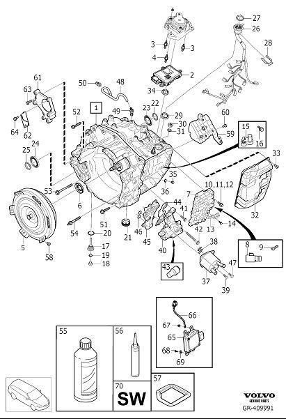 Volvo XC90 Flange Screw. Automatic Transmission. M8x106.5