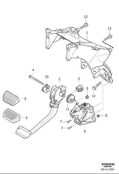 Volvo XC90 Brake Light Switch. Brakelight Switch. Sensor