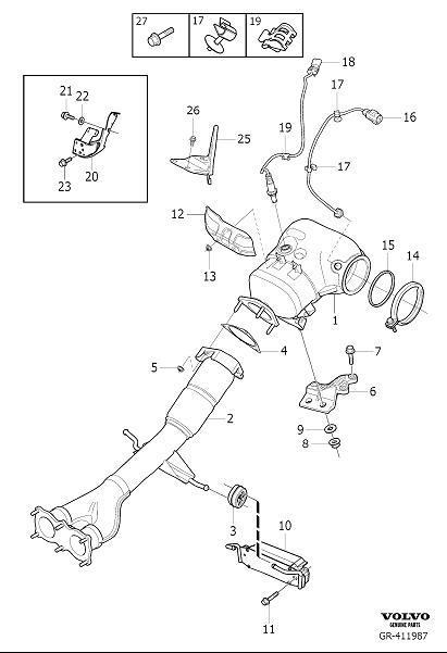 Volvo XC60 Exhaust Pipe. Catalytic Converter. FC 36