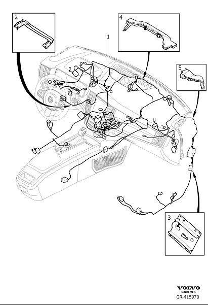 Volvo S90 Wiring Harness. Cable Harness Dashboard. Code