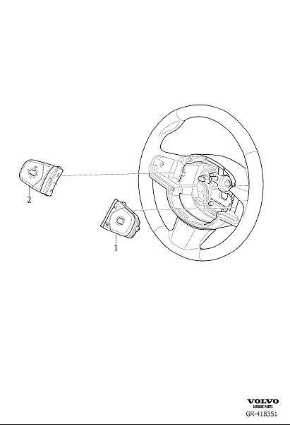 Volvo S60 Steering Wheel Radio Controls. Switch Steering