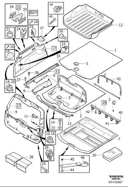 Volvo V70 Floor Hatch. Interior Trim Luggage Compartment
