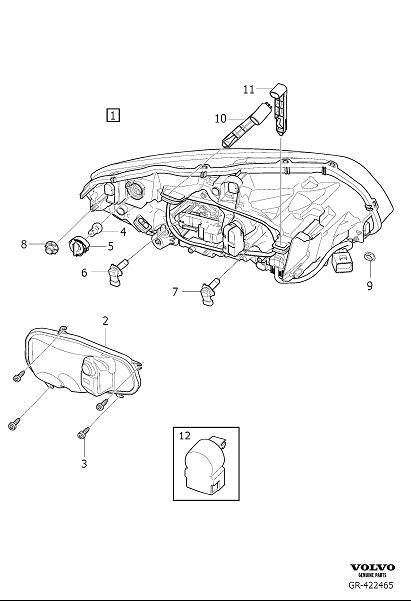 Volvo XC60 Headlight Bulb Cap (Right). Cover. Active Gas