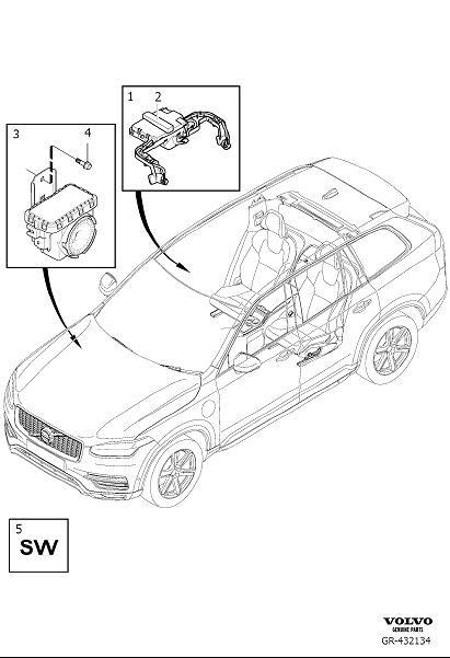 Volvo XC60 Anti-Theft Alarm Siren. Variant code: L102 and