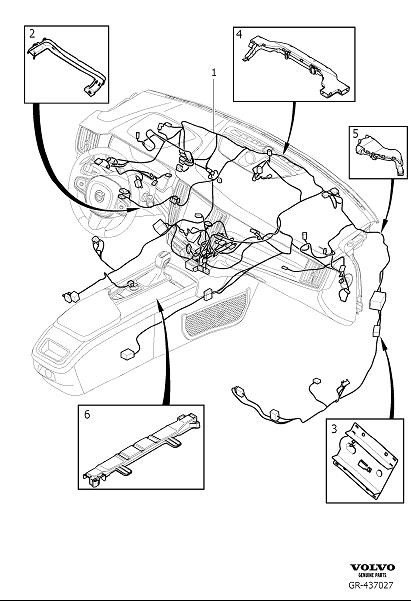 Volvo S90 Cable Harness Duct. Cable Harness Dashboard