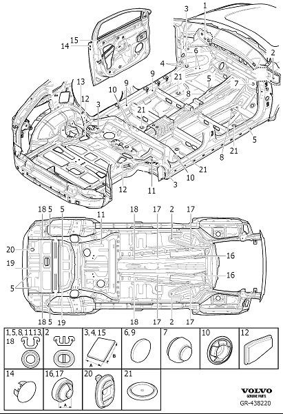 Volvo XC90 Cover Washer. Seals Body, Passenger Compartment