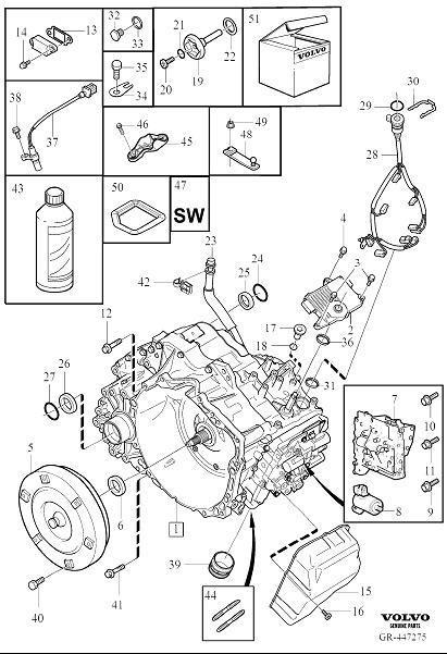 Volvo XC60 Repair Kit. Automatic Transmission. 2011