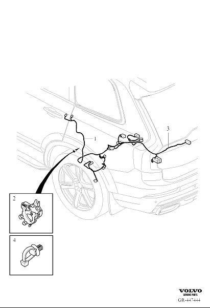 Volvo XC90 Wiring Harness. Cable Harness Axle. AWD