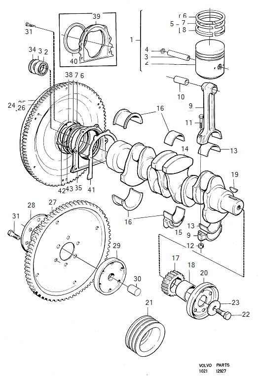 Volvo 240 Washer. B20. Crank Mechanism. FOR 460783-4