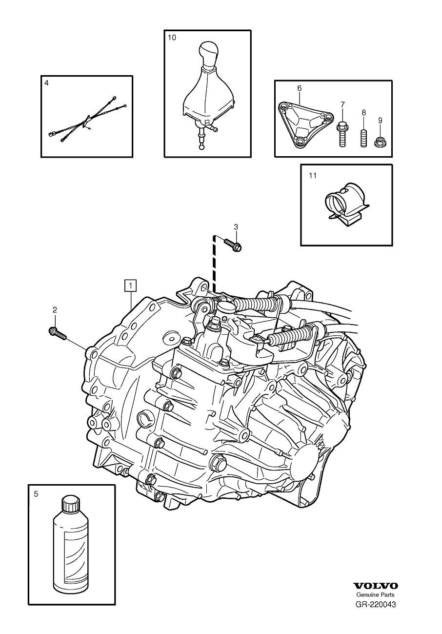 Volvo V70 Bracket. Gearbox, Manual. Manual Transmission. R