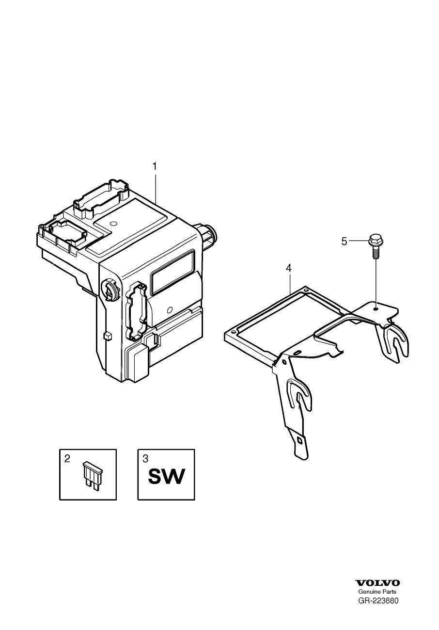 Volvo V70 Electronics Box. Central Electronic Module (CEM