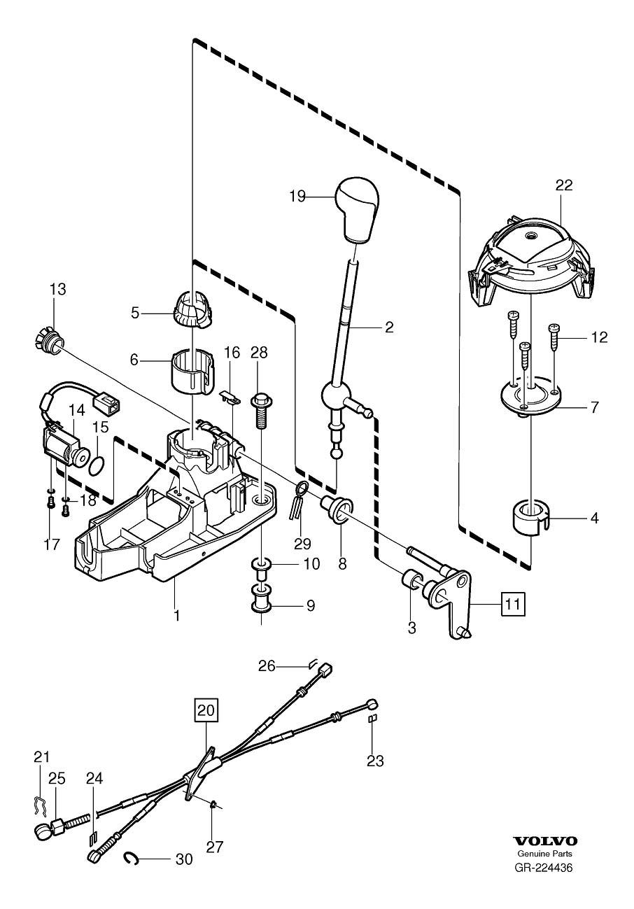 Volvo V70 Gear Shift Lever. Gearshift. Shift Control