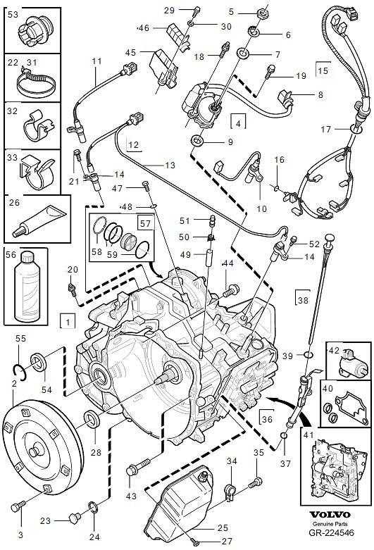 Volvo C70 Automatic Transmission Control Solenoid. Gearbox