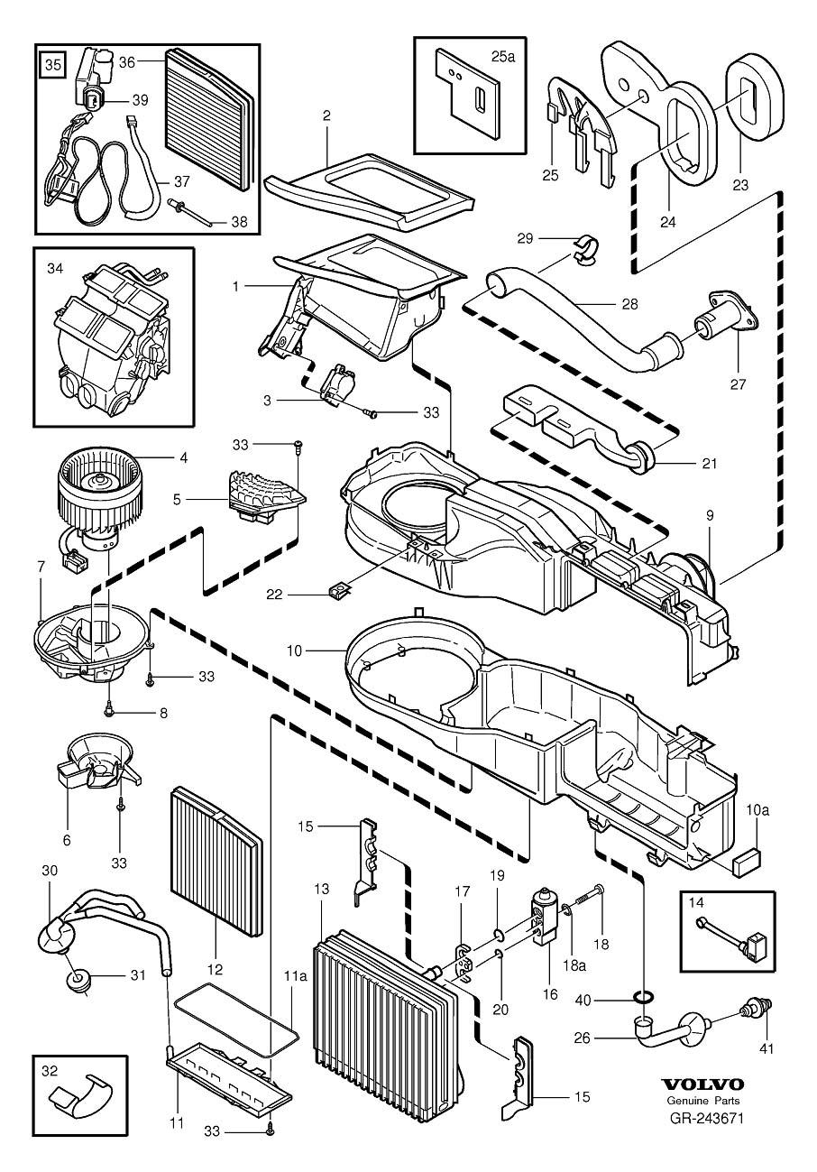 Volvo S80 Clip. A.C. Climate Unit. E.C.C. Standard. R.H.D