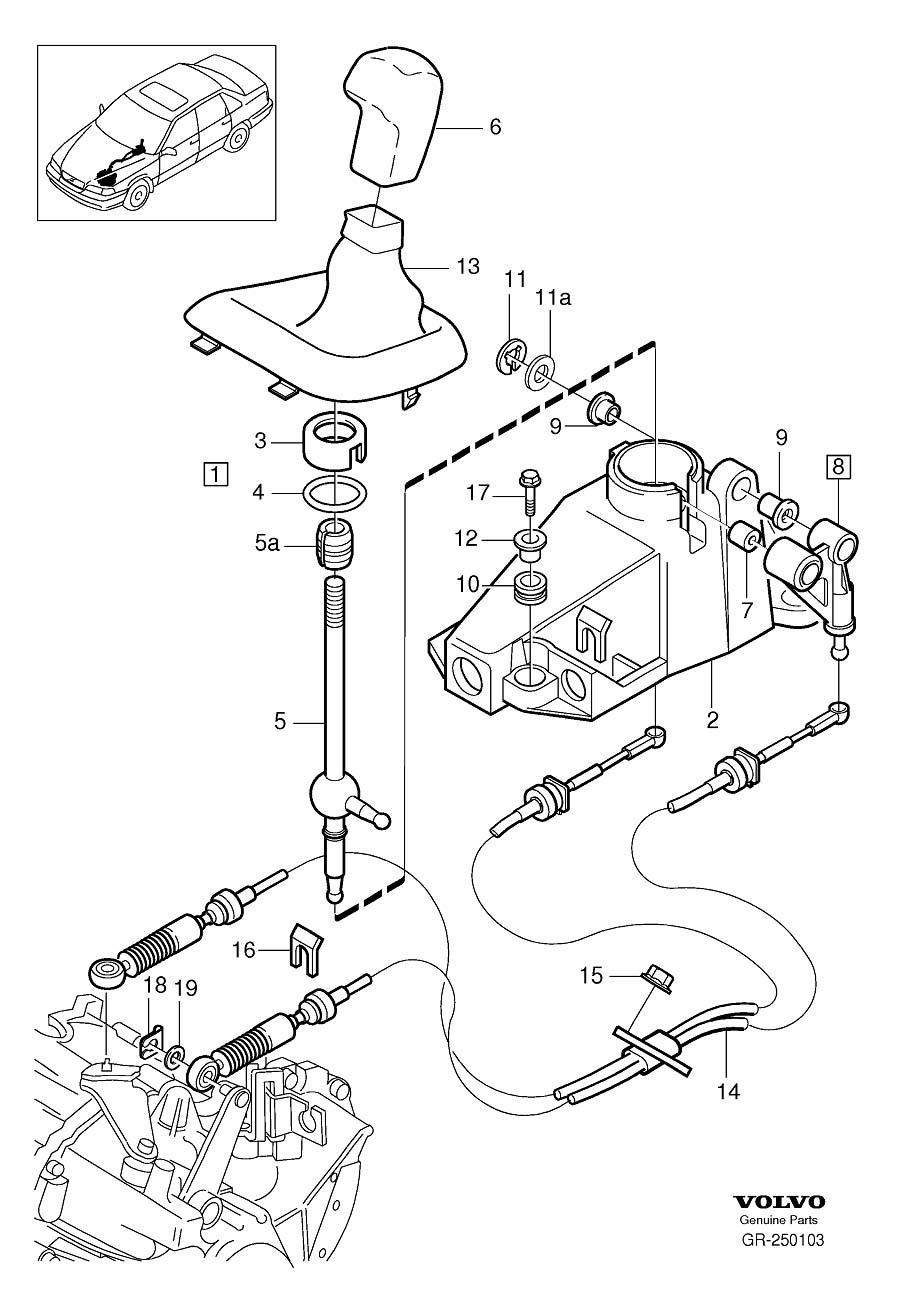Volvo S70 Manual Transmission Shift Knob. Gear Shift Lever