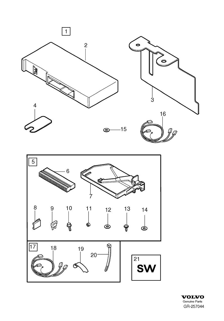 Volvo S60 Harness. Accessory Electronic Module (AEM