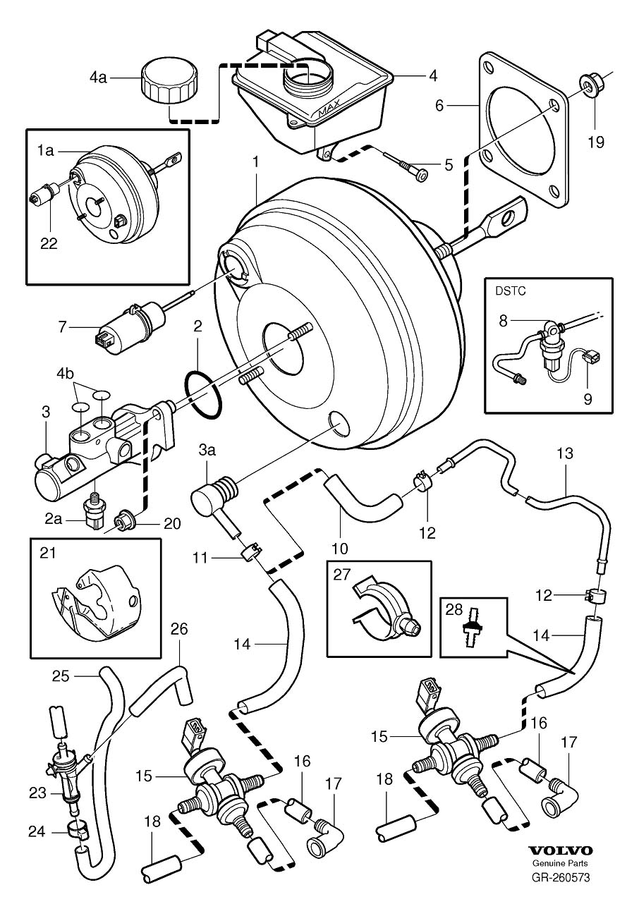 Volvo S80 Hose. DELPHI. Kits. LEAR. Master Cylinder