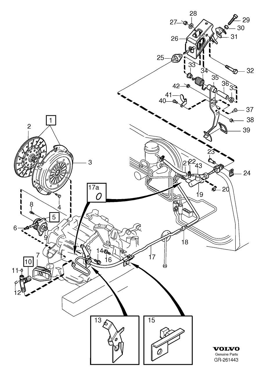 Volvo S40 Radiator Hose Clamp. Code, Emission, Filter