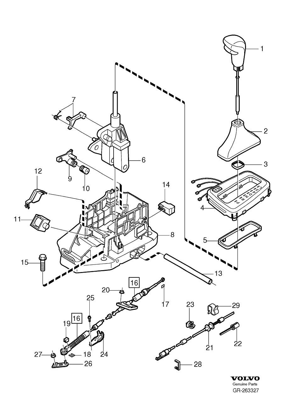 Volvo V70 Automatic Transmission Shift Linkage Boot. CH