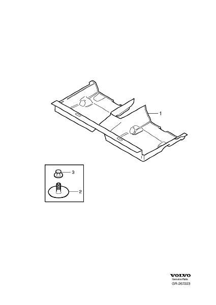 Volvo C30 Carpet. Floor Upholstery. (Rear, Interior code