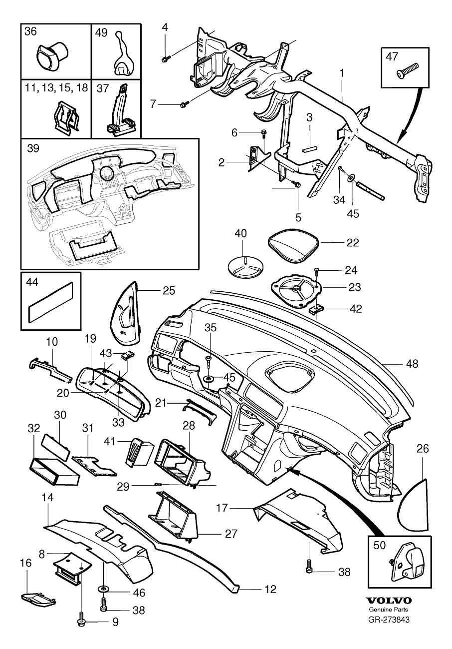Volvo S80 Clip. Additional Components. Dashboard. Interior